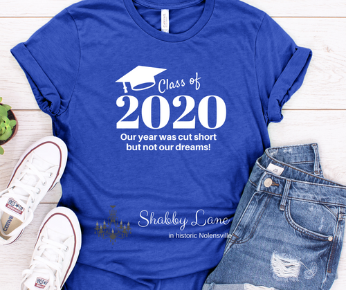 Class of 2020 tee Royal blue