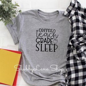 Coffee teach grade sleep! - gray
