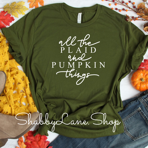 All the plaid and pumpkin things! Olive