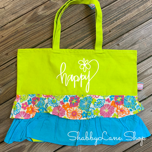 Fun beach tote - Happy