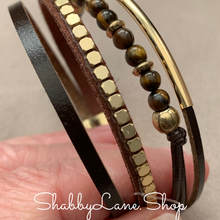 Load image into Gallery viewer, Beaded layered bracelet - brown