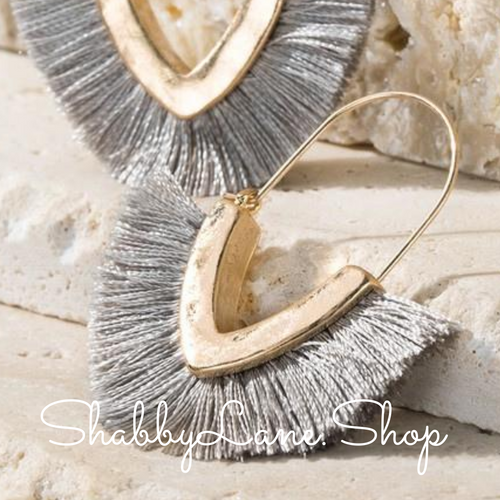 Tassel Earrings - Grey