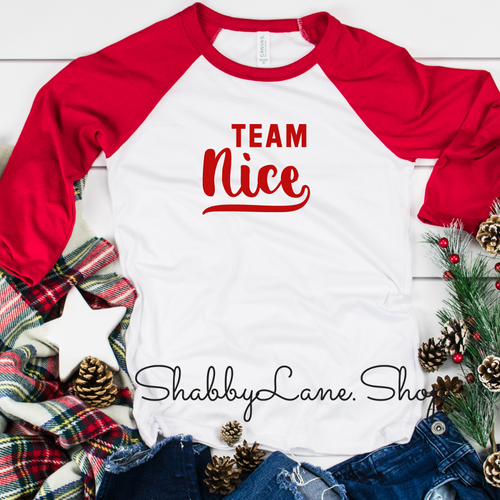 Team nice - red sleeves