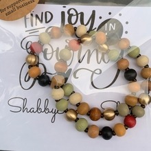 Load image into Gallery viewer, Wooden beaded bracelet- multi color