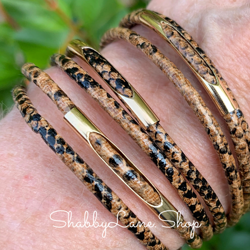 Gorgeous layered bracelet - snakeskin