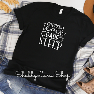 Coffee teach grade sleep! - Black