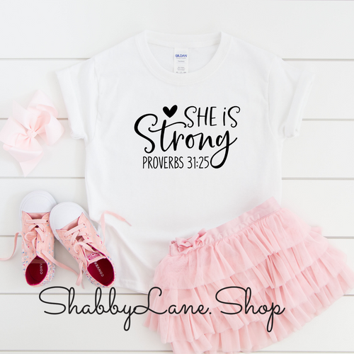 She is Strong - toddler/kids - white T-shirt