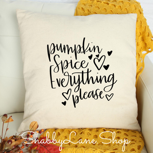 Pumpkin spice everything - white pillow
