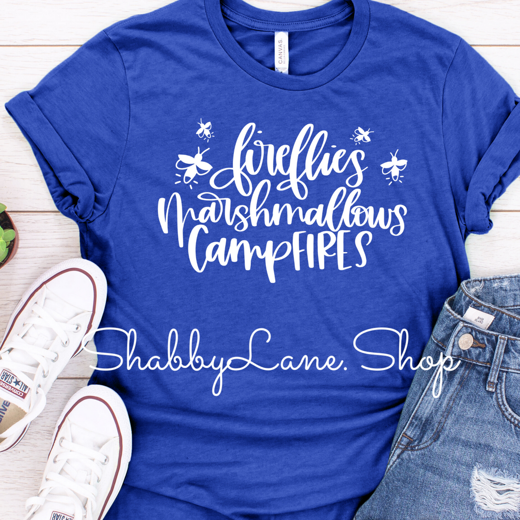 Fireflies and Marshmallows- Royal blue