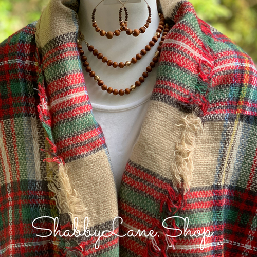 Beautiful blanket scarf - tan