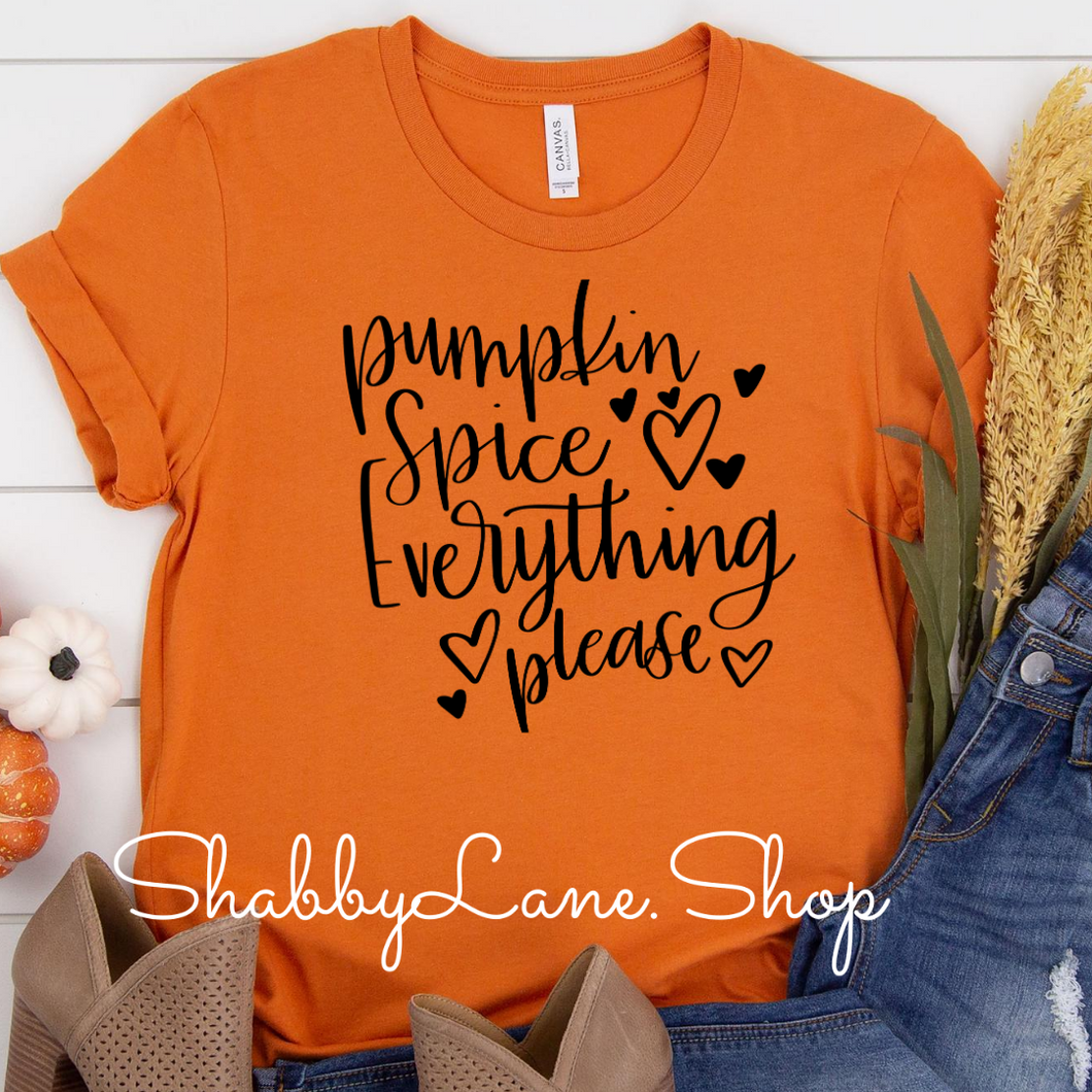 Pumpkin spice everything ! Orange black letters