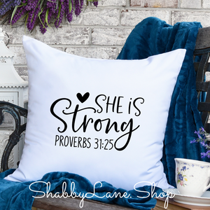 She is strong- pillow white
