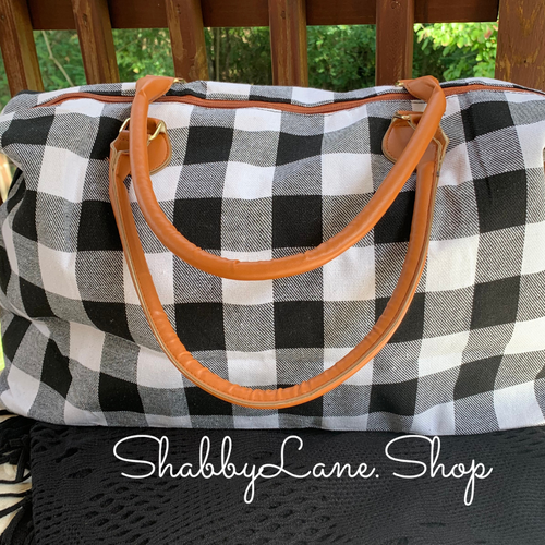 Gorgeous weekender buffalo plaid - white