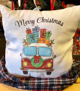 Merry Christmas VW Van -Canvas