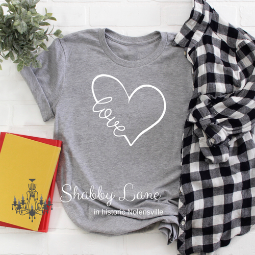 Love Heart grey tee