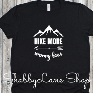 Hike More Worry Less - black