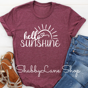 Hello Sunshine! - heather Raspberry