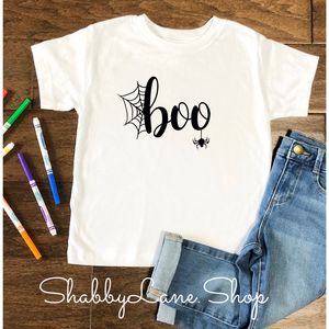Boo Halloween Toddler/kids  tee - white 2