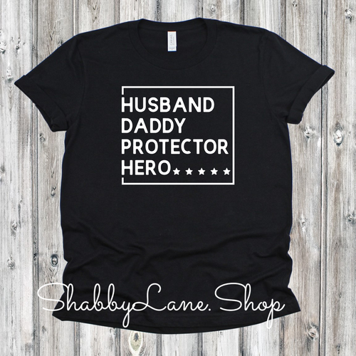 Husband Daddy Protector Hero - Black