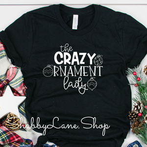 Crazy ornament lady! Black