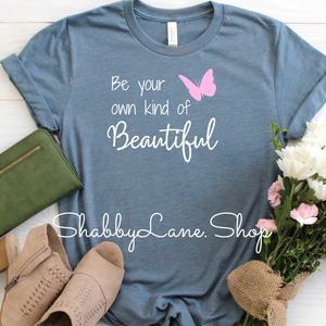 Own Kind of Beautiful - Heather slate tee