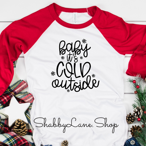 Baby it's cold outside - red sleeves