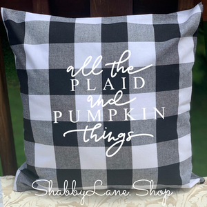 All the plaid! - White Buffalo plaid pillow