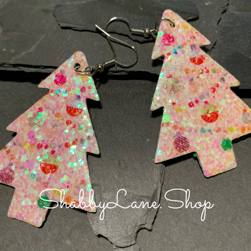 Holiday glitter tree earrings- style 9