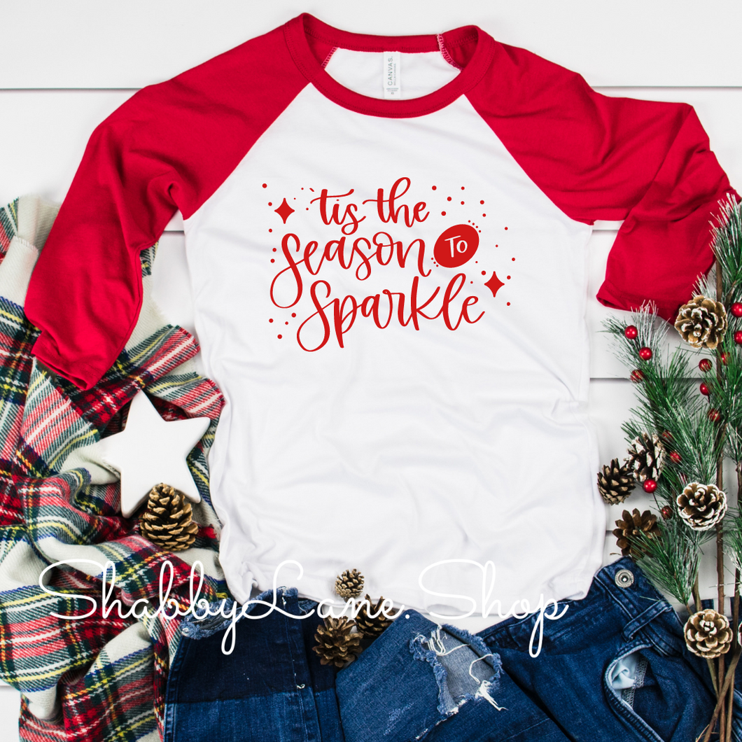 Tis the season to sparkle - red sleeves