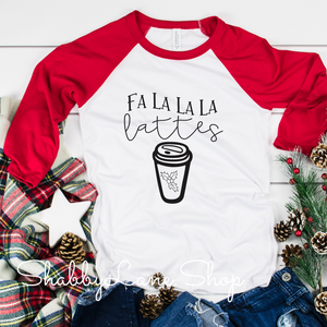 Falalala latte - red sleeves