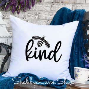 Bee kind - pillow white