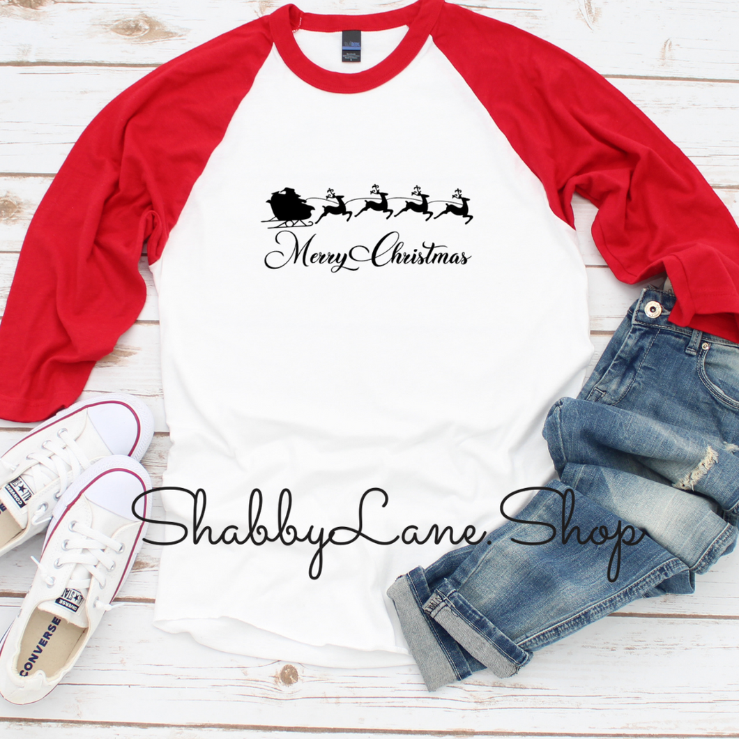 Santa Sleigh Merry Christmas girl - toddler/kids