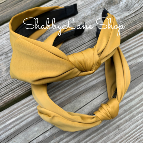 Beautiful bow headband - mustard