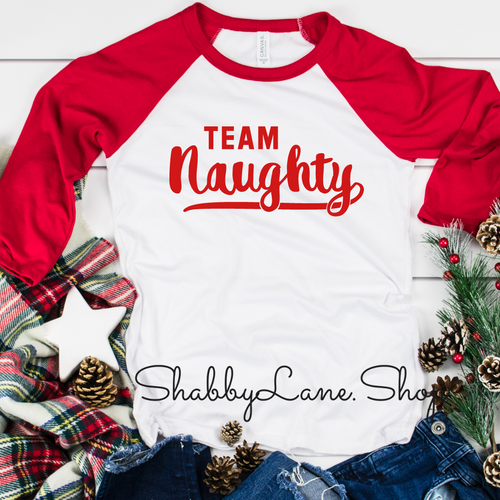 Team naughty- red sleeves