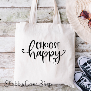 Sweet canvas market tote - choose happy