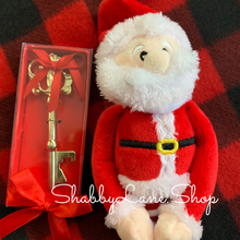 Load image into Gallery viewer, Santa's key with Santa plushie