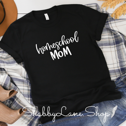 Homeschool Mom - black T-shirt