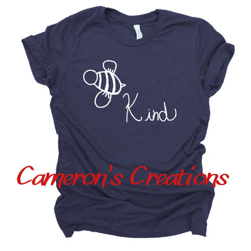 Bee Kind - Cameron Collection Heather Navy