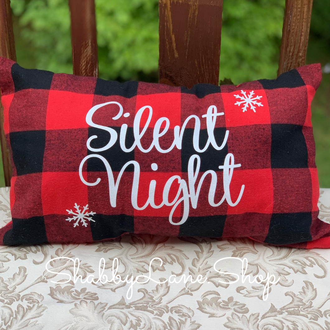Silent night - Buffalo plaid pillow