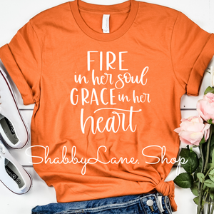 Fire in her soul - burnt orange