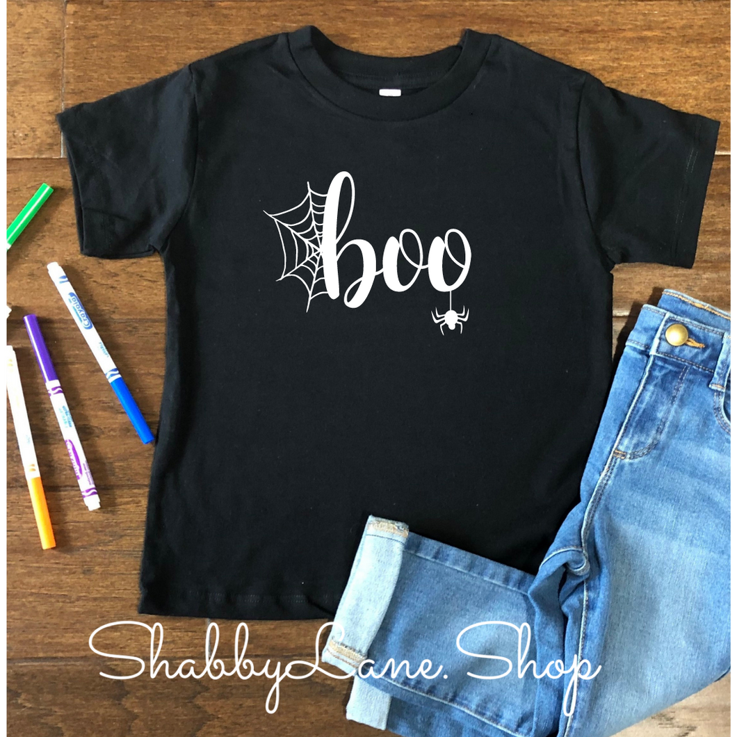 Boo Halloween Toddler/kids  tee - black