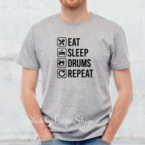 Eat Sleep drums repeat - Gray T-shirt