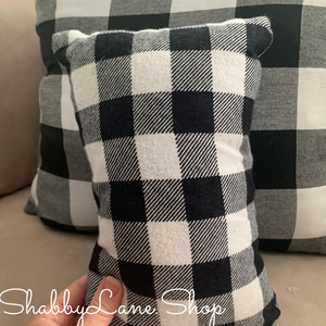 Baby it's cold outside- accent pillow white plaid