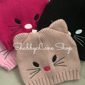 Sweet cat toddler beanie