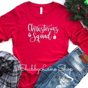 Christmas Squad- red long sleeve