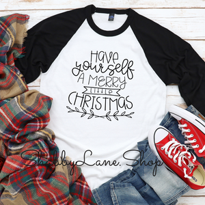 Have yourself a Merry little Christmas - black sleeves