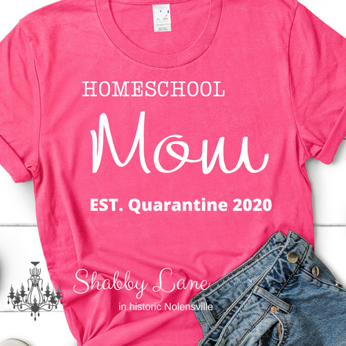 Homeschool Mom quarantine 2020- pink Heather