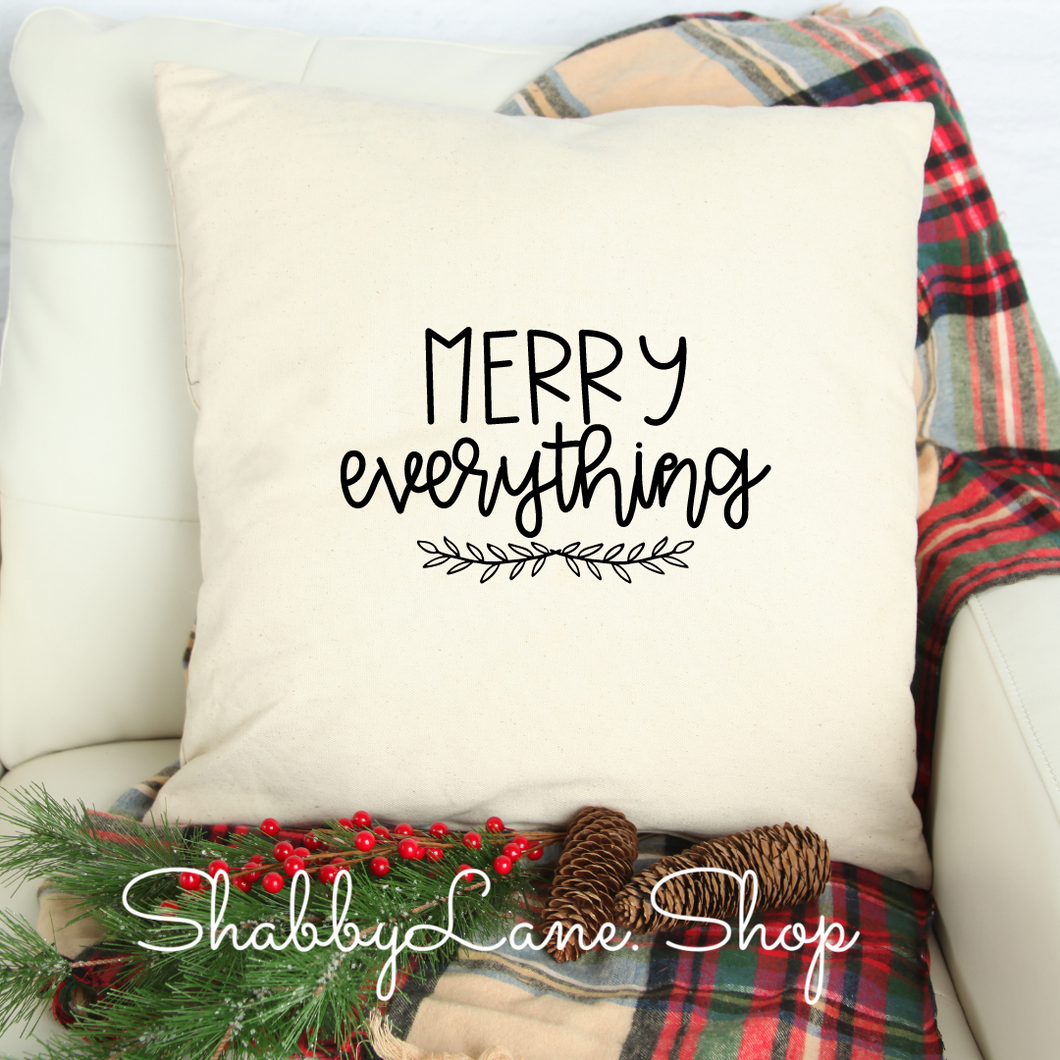 Merry everything - white pillow