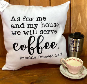 As for me ....serve coffee - white