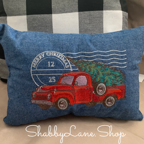 Red Truck Christmas pillow  accent